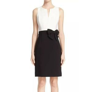 KATE SPADE Dress Sheath White Black Colorblock Bow